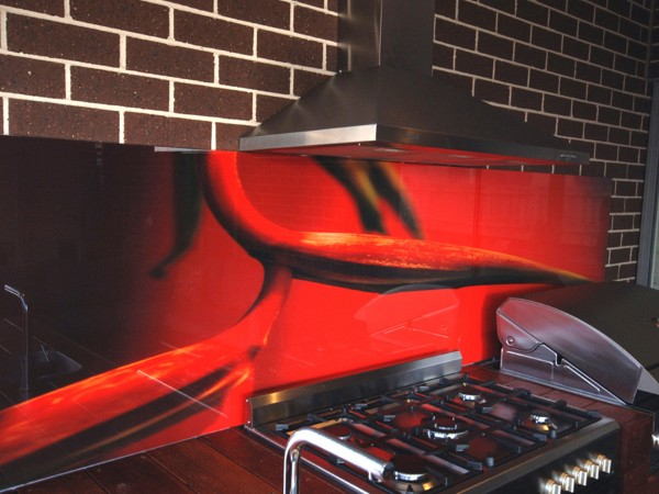 Alfresco Red Splashback