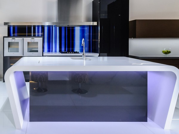 Electric Blue splashback