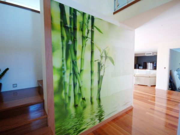 Bamboo Entrance Glass