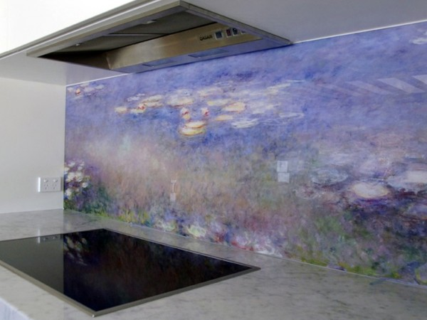 Monet Printed glass Splashback