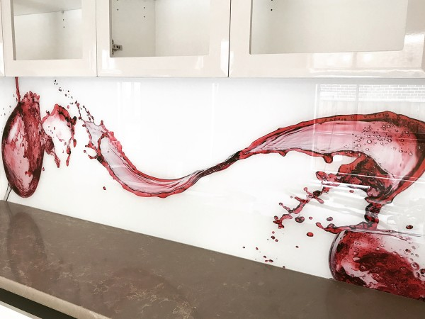 Red Wine Splash back